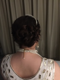 updo from the back