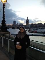 walking along the Thames