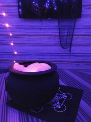...and cauldron bubble...