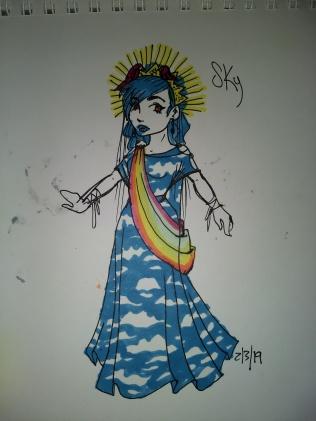 costume design doodle