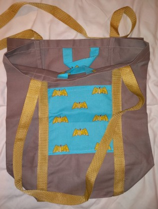 homemade Batman tote bag